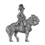 Mounted officer, cocked hat (18mm)