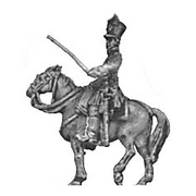Mounted officer, shako (18mm)
