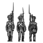 Belgian Line Infantry, centre company, marching (18mm)
