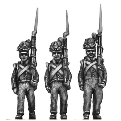 Belgian Line Infantry, flank company, marching (18mm)