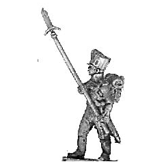 Colour guard sergeant, with spontoons (18mm)