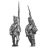 Reserve infantry, marching, shakos and jacket (18mm)