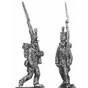 Reserve infantry, marching, English uniform (18mm)