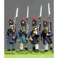 Silesian Landwehr, British shako, litewka, marching (18mm)