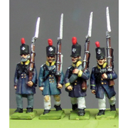 NEW - Silesian Landwehr, British shako, litewka, marching (18mm)