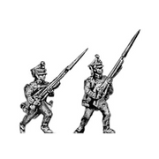 Musketeer/Jager, advancing (18mm)