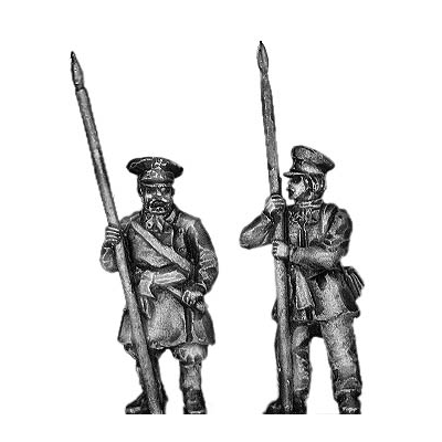 St Petersburg Militia with pike (18mm)