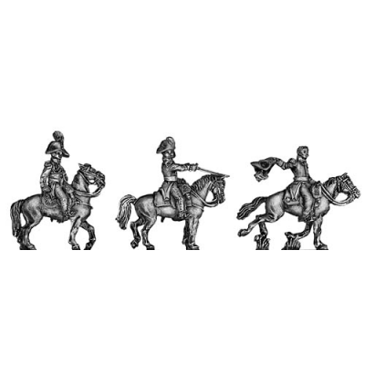 Russian Staff Officers mounted (18mm)
