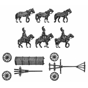 Horse artillery large caisson team (18mm)