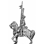 Hussar, front rank with lance (18mm)