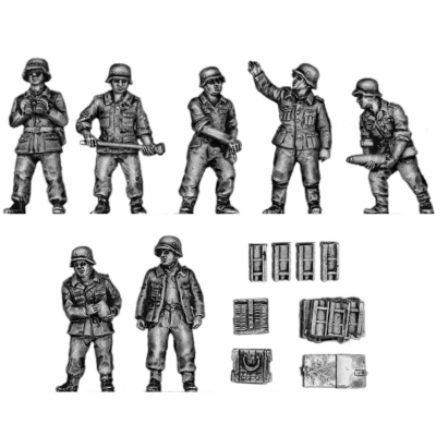 10.5cm Field artillery crew and accessories (20mm)