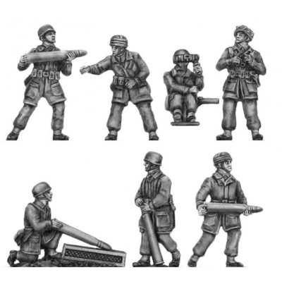 Fallschirmjager crew for 8.87cm flak gun (20mm)
