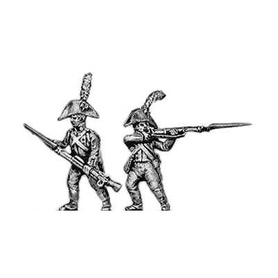 Fusilier, cocked hat, firing and loading (18mm)