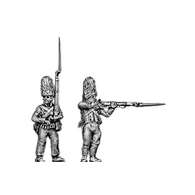 Grenadier, fur cap, firing and loading (18mm)