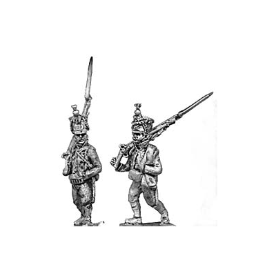 Line infantry, shako, marching (18mm)