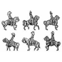 Six mounted marshals and generals (18mm)
