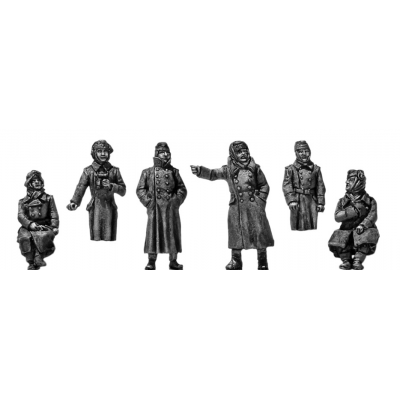 German Panzertruppen 1941-42 in greatcoats (20mm)