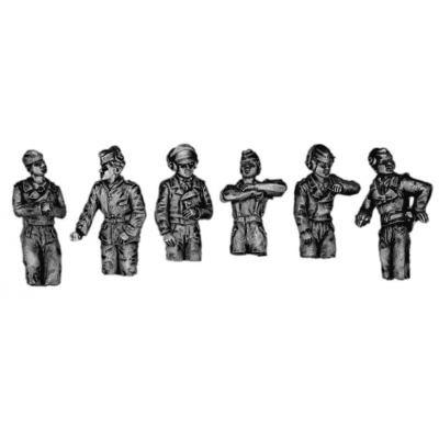 SS Panzer crew, hatch figures (20mm)