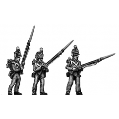 Centre Company, standing, port arms (18mm)