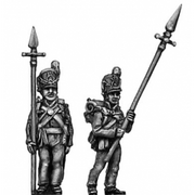 Centre Company sergeant, with pike (18mm)