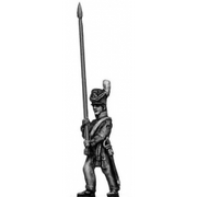 Ensign marching, bare pole (18mm)