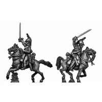 Heavy Dragoons charging (18mm)