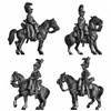 British Household Cavalry Troopers at rest (18mm)