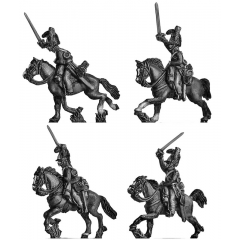 British Household Cavalry Troopers charging (18mm)