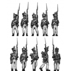Fusiliers, march attack (18mm)