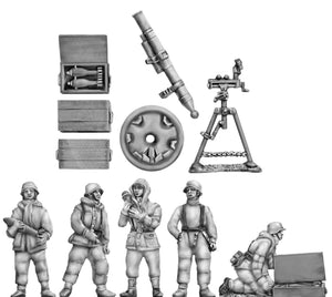 NEW - Winter 12cm Gw42 mortar and crew (20mm)
