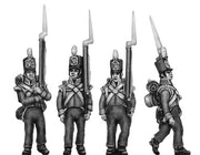 Flank company, marching, shoulder arms (18mm)
