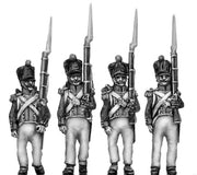 Grenadiers, epaulettes, moustaches, sabres, covered shako (18mm)