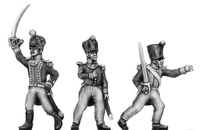 Officer, covered shako (18mm)