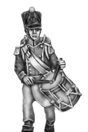 Drummer, covered shako (18mm)