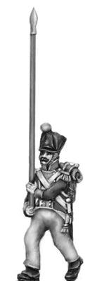 Flag bearer, covered shako (18mm)