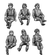 Seated Soviet Tank crew - Set 2 (20mm)
