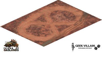 Gaming Mat 6x4 - Gaslands Mars