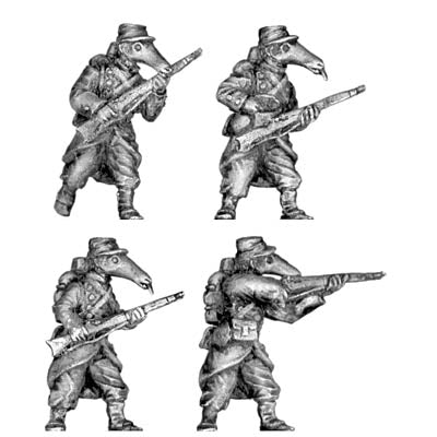 French anteater infantry (28mm)