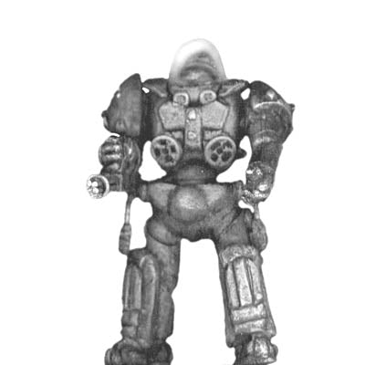 Impervious Suit with rapid-fire pocket cannon standing (28mm)