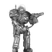 Impervious Suit with Electro-Galvanic Lightning Discharge gun standing (28mm)
