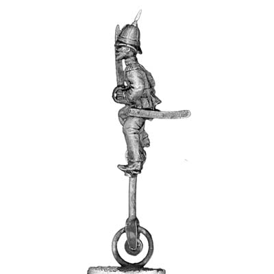 Officer on unicycle in pith helmet (28mm)