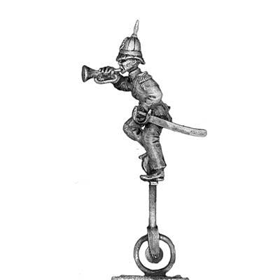 Bugler on unicycle in pith helmet (28mm)