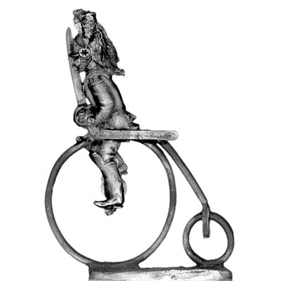 Cuirassier on penny-farthing in helmet (28mm)