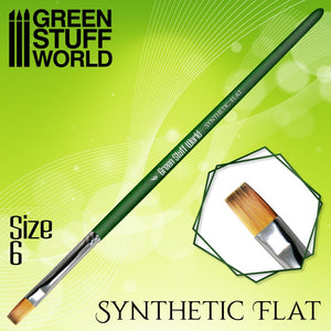 GREEN SERIES Flat Synthetic Brush Size 6
