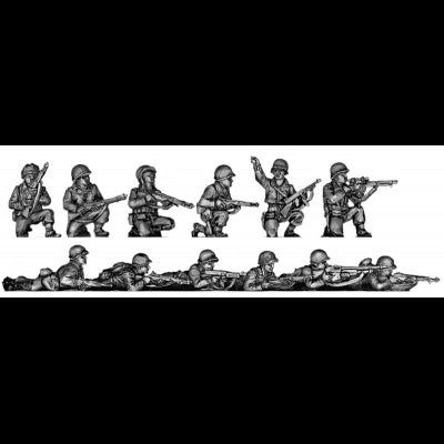Infantry squad, kneeling and prone (20mm)