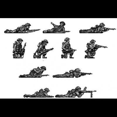 Infantry section, kneeling and Prone (20mm)