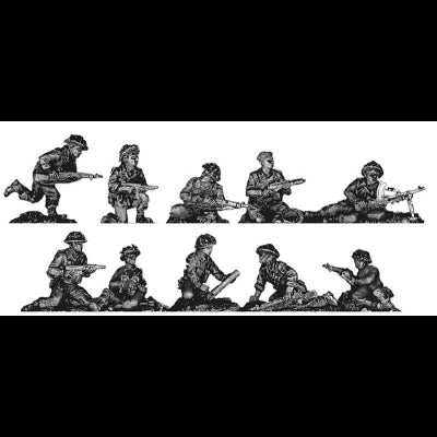 Infantry section, defending poses (20mm)
