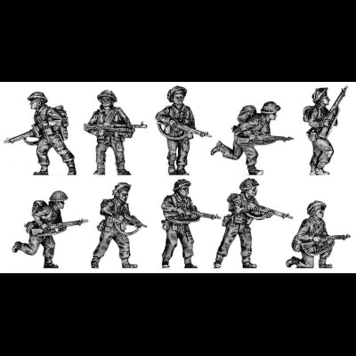 Infantry section, attacking poses (20mm)