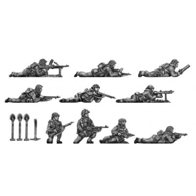 Infantry section, windproofs, kneeling and prone (20mm)