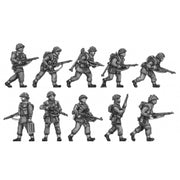 Infantry section, jerkins, advancing (20mm)